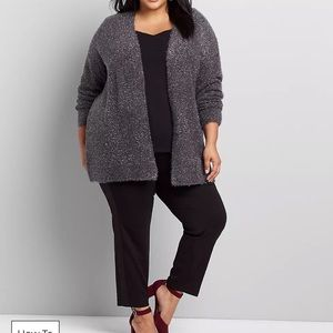 Lane Bryant-Metallic Open-Front Cardigan-18/20